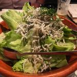 魚金 - しらすぶっかけサラダ