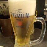 博多とりかわ 長政 - ビール \480