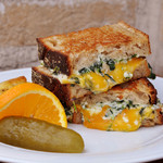 クリームスピナッチ グリルドチーズ サンドイッチ