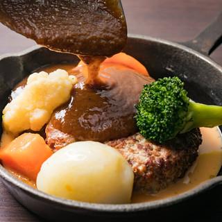 ◆絶品!ゴロゴロ野菜の窯焼きハンバーグ♪◆あつあつとろ~り