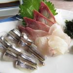 魚正 - 刺身定食(刺身) 1300円 (2017.5)