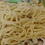 好味苑 - 好味苑 @本蓮沼 日替わりランチB タンメンセットのタンメンに使われる量も充分のツルシコ食感の縮れ中細麺