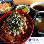 亜和膳 - チャーシュー丼定食 1