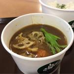 北海道スープスタンド - 鶏だし薫る北海道スープカレー Sサイズ セット 710円。