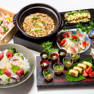 充実のコース料理各種。期間限定『初夏の宴コース』
