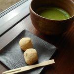 岡山後楽園 福田茶屋 - お抹茶と団子