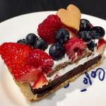 カフェ・コムサ - ショコラベリータルト@ビターなチョコレート。レギュラーだけど今回のラインナップでは異色な存在❤