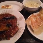 歓迎 西口店 - 麻婆茄子丼ランチ