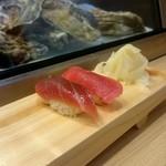 つきぢ神楽寿司 - づけまぐろ、赤身