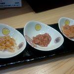 つきぢ神楽寿司 - 珍味3点:970円