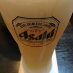 肉太郎 - ビールはアサヒビール スーパードライ(´∀`)