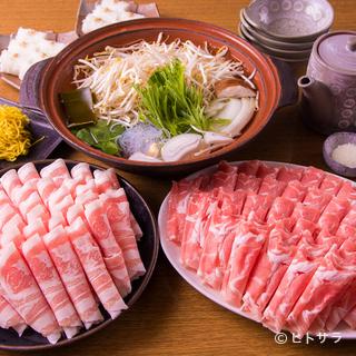 『ラム肉&三元豚のしゃぶしゃぶ120分食べ飲み放題コース』