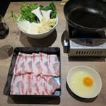 原宿 sora an - 鉄鍋すき焼き 三元豚