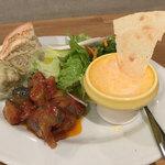 北浜バールこにし - 前菜3種とサラダ
