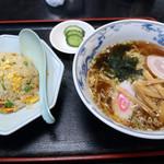 中華料理 海道 - ラーメン半チャーハンセット700円