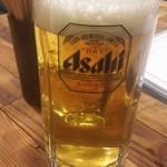 肉バル豊田荘 - スーパードライ生ビール
