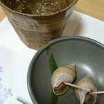 居酒屋じん - 料理写真:芋ロックとお通し