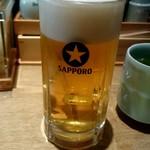 ありそ鮨し - 生ビール:680円