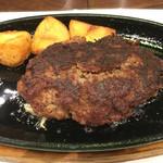 イノウエステーキハンバーグレストラン - ハンバーグ230g(1,600円)