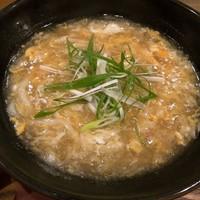 うどん小屋 柔製麵 - 混ぜてカリーあんかけ卵とじうどん