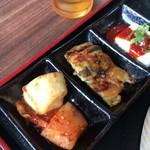 本格韓国料理焼肉 無双 - カクテキとチヂミ、そして豆腐でした