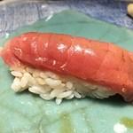 第三春美鮨 - チュウボウマグロ 64kg 腹上一番(カマ下) 赤身二カン 熟成10日 定置網 京都府舞鶴