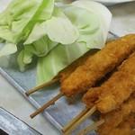 菊井かつ - C定食670円のメイン馬肉串カツ