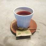 67992598 - ピーチフレーバーティー エルダーベリーソース(650円)+8%