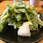 八丈島 - 明日葉の天ぷら