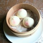 中国料理 華龍 - 桃饅頭 380円+税 2017/06