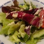 三洋 - チーズとオリーブ油のドレッシングが美味しいサラダ