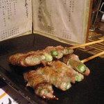 Charcoal Cuisine 克ッ 井の頭 - 串コース(にんにく芽豚巻き)