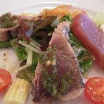ラトリエ - 鰹とサーモンのサラダ