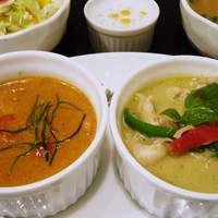 タイ料理 ブアールアン - 2色カレーセット(グリーン&レッド)