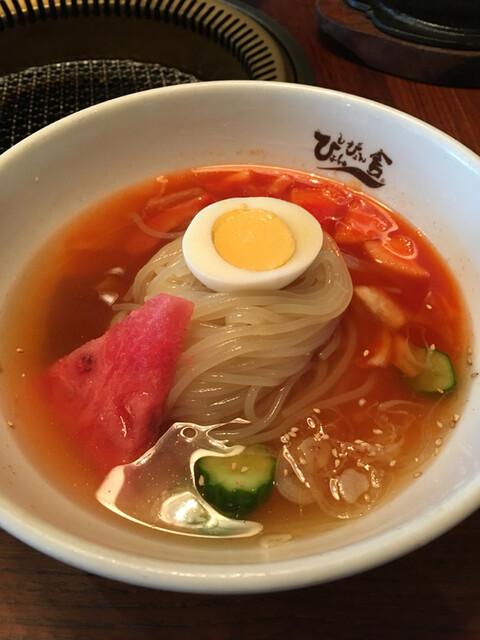 ぴょんぴょん舎  GINZA UNA - 盛岡冷麺。麺が艶々('17/06/03)