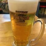 もつ鍋 チャンピオン - 生ビール