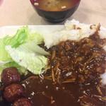 東横INN - キノコカレー&味噌汁