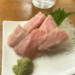 魚介 - マグロ上腹身お造り