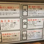 麺屋 侍 - 日替わりスープ