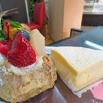 ボヌール・ドゥース - パイの実(左) 白いチーズ(右)