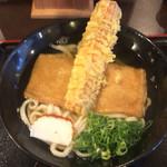 情熱うどん讃州 - 料理写真:ちくわ天ときつねうどん 700円