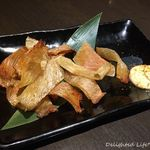 れんや - エイヒレの炙り焼き(580円税別)