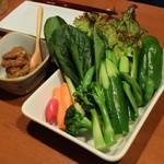 まいど - 神戸野菜のスティックサラダ 自家製鶏味噌