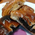 手作りパン キムラヤベーカリー - あんぱん&ポム・断面