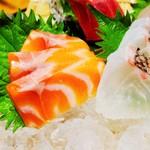 隠れ野 - 鮮魚4点盛り