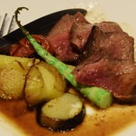 飯家 おかん - 牛イチボ肉と春野菜のグリル