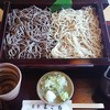 蕎菜 まさ吉 - 料理写真:合盛りそば1560円(せいろ&黒粉)