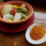 バル デ エスパーニャ ムイ - タジン鍋で作る11種の蒸し野菜ランチ