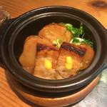 千寿竹やぶ - 豚角煮と季節の野菜(980円)