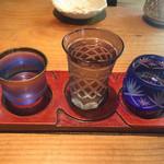 千寿竹やぶ - 利き酒三種(1490円)